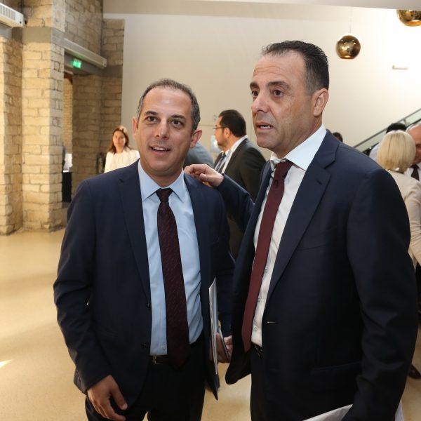 G. Gregoriou with Minister Marios Demetriades