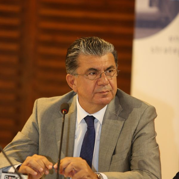 Dr. Stelios Himonas, Permanent Secretary, Ministry of Energy, Commerce, Industry and Tourism, Republic of Cyprus at the Press Briefing