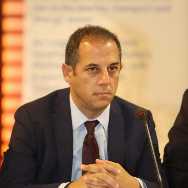 Marios Demetriades, Minister of Transport, Communications & Works, at the Press Briefing